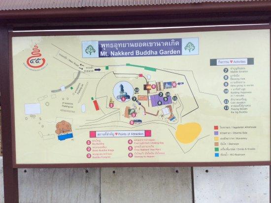 Chalong, Thailandia: Big Buddha map and surrounds.