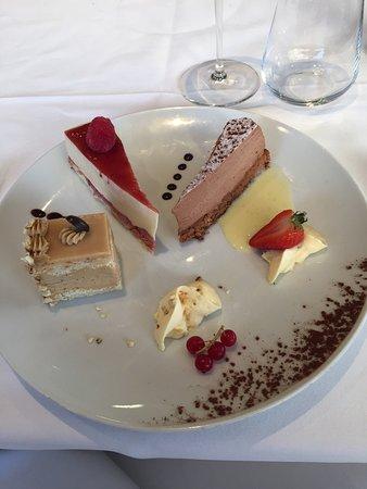 La Sole Meuniere Restaurant : Amuse Bouchet, starter of Fois Gras, Fillet of sole and dessert taster