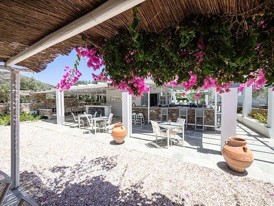 Platis Yialos, Grækenland: Bar and breakfast area
