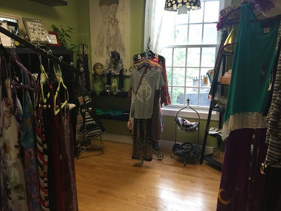 Guilford, CT: Retail room- clothing, accessories, organic body care products, gifts