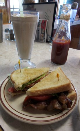 Butte, MT: BLT with chocolate shake