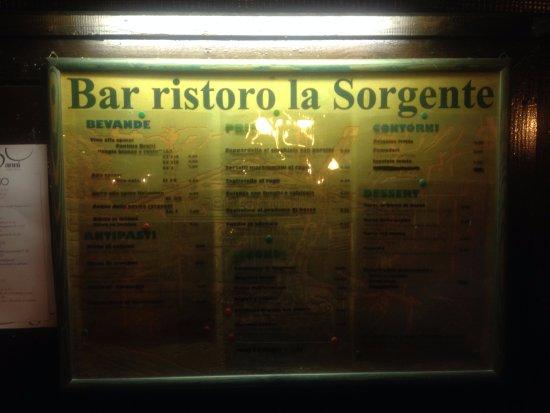 Monte Argentario, Italy: il menu'