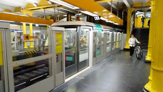Metro Station at Paris Gare de Lyon - Picture of Paris Metro, Paris ...