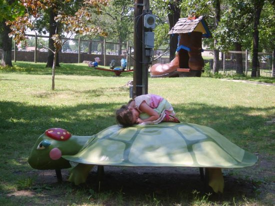 Independence, KS: My granddaughter on her first visit to the park.