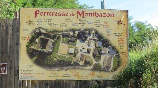 Montbazon, France: plan des différents lieus à visiter, des ateliers