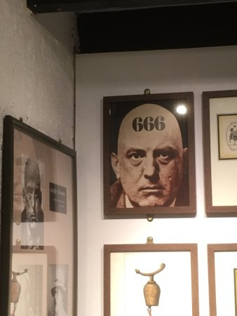 Boscastle, UK: items devoted to famous witches and warlocks such as Alastair Crowley