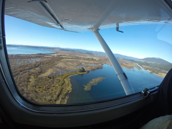 Turangi, Selandia Baru: View from the floatplane