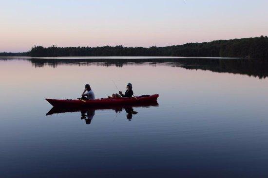 Damariscotta, ME: Watching the sun set on McCurdy Pond