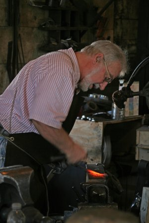 Galena, IL: Another photo of the craftsman at the forge.