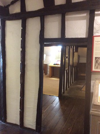 Lichfield, UK: Exterior shots, a bust of Dr Johnson and a half timbered doorway.