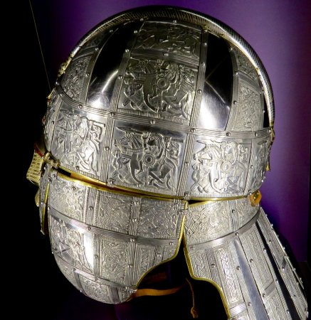 Woodbridge, UK: King Raedwald's helmet. Such intricate craftsmanship