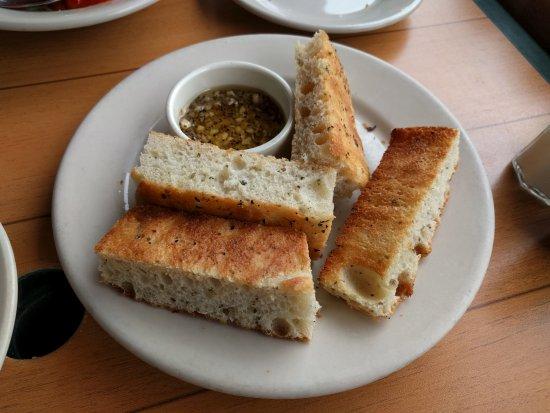 Oregon City, OR: Focaccia bread and garlic dipping oil.