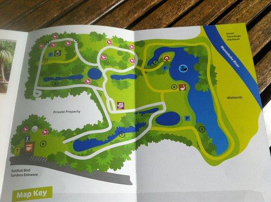 Katikati, New Zealand: Park map