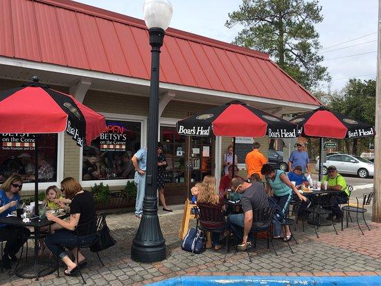 Aiken, SC: Patio at Betsy's on the Corner