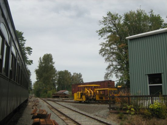 Train passing the museum in Snoqualmie,WA. 2016.