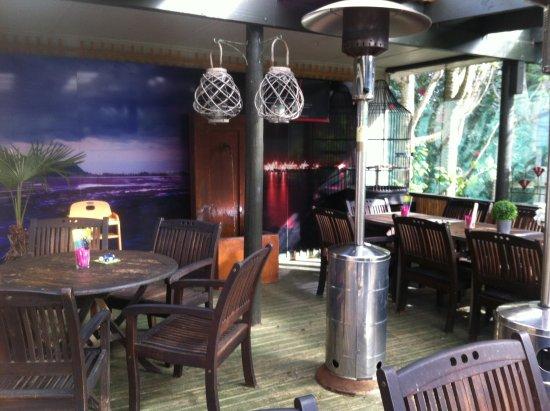 Katikati, New Zealand: Cafe deck interior