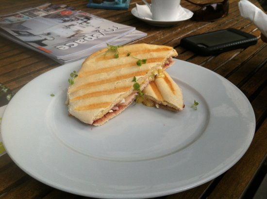 Katikati, New Zealand: cranberry and chicken panini