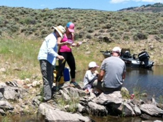 Gunnison, CO: Picnic on the shore of Blue Mesa