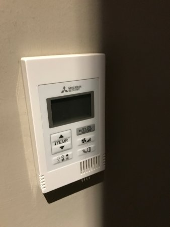 Cheadle, UK: A/C controller very hard to see