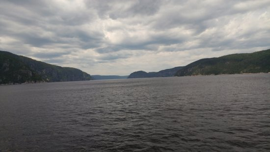 Tadoussac, Canada : Looking westward up the Saguenay fjord, one of the only fjords on the eastern coast of North Ame