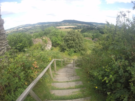 Wigmore Castle: Stairs to the top.