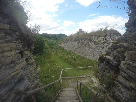 Wigmore Castle: Top tower section.