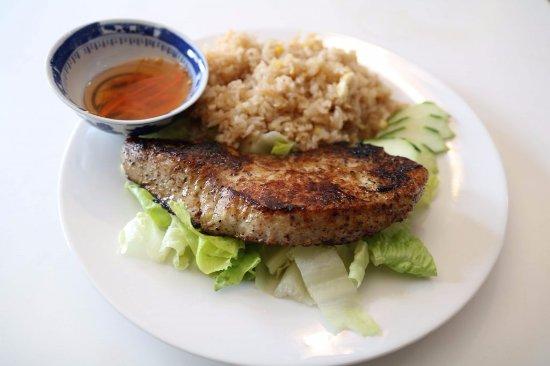 Mount Vernon, TX: Honey Glazed Pork Chop