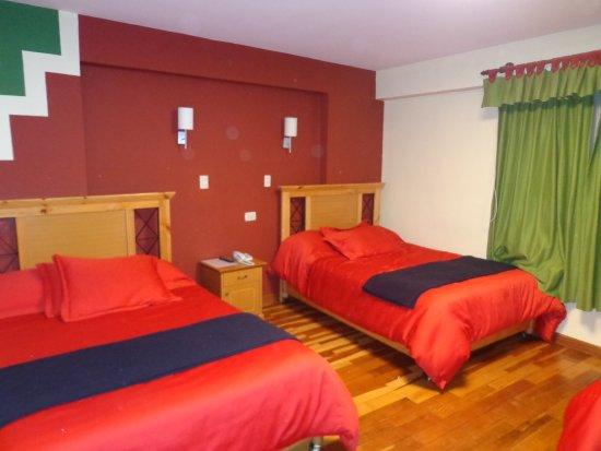 Anden Inca Hotel: Quarto para três pessoas adultas.