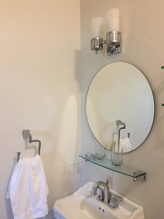 Vanity Sink Glass Shelves Over Sink And Toilet Ample