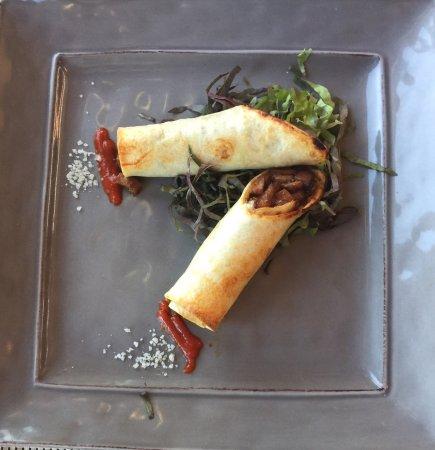 Alpenglow Restaurant- Grande Denali Lodge: Duck taquitos. Great appetizer. Wanted more!