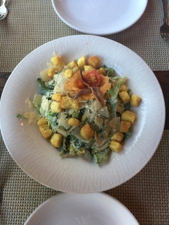 Alpenglow Restaurant- Grande Denali Lodge: Caesar salad. Just the way a Caesar salad should be. Delicious.