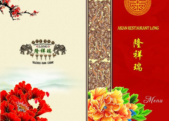 Menu cover photo de asian restaurant long calvi for Accord asian cuisine menu