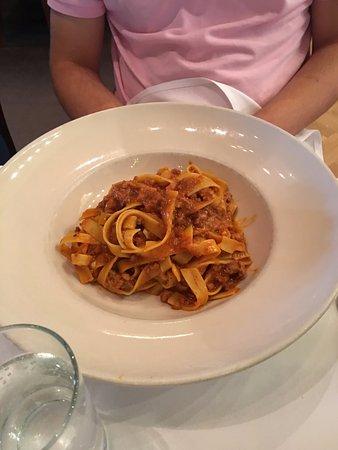 Il Fornaio: Tagliatelli with classic meat tomato sauce