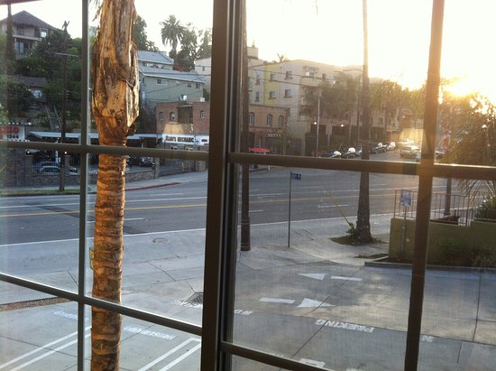 Super 8 Los Angeles Downtown: View from room of Sunset Boulevard in the Echo Park neighborhood.