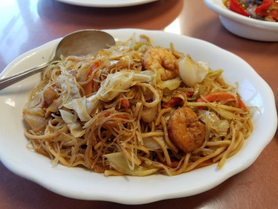 Westbury, NY: Pancit bihon! With lots of veggies, noodles and baby shrimps!