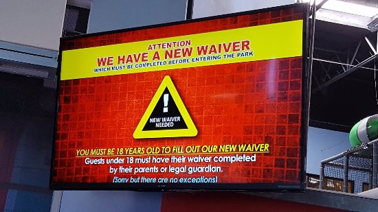 Santee, CA: New Wavier Form Sign