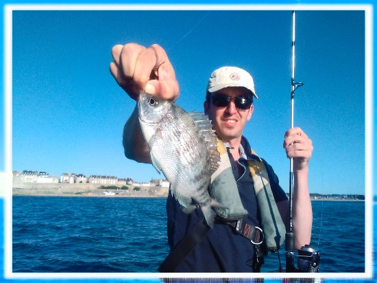 Saint-Malo, Fransa: sea bream bottom fishing