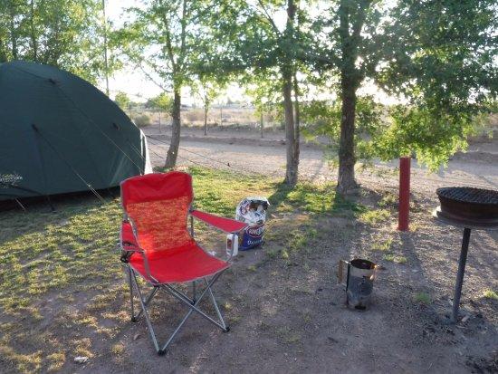 Holbrook / Petrified Forest KOA: Group tent camping is a nice area!