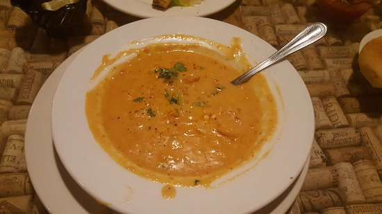 Apex, NC: Seafood Soup, Salad, Chicken Parmesean, Chicken Francese