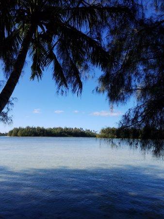 Kura's Kabanas : View of Muri Lagoon - waters edge at property