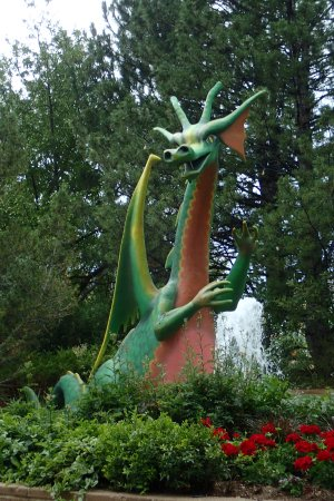 Westminster, CO: the dragon in the medieval section