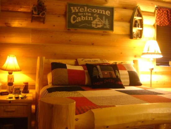 Alma, CO: The Log Cabin Room.