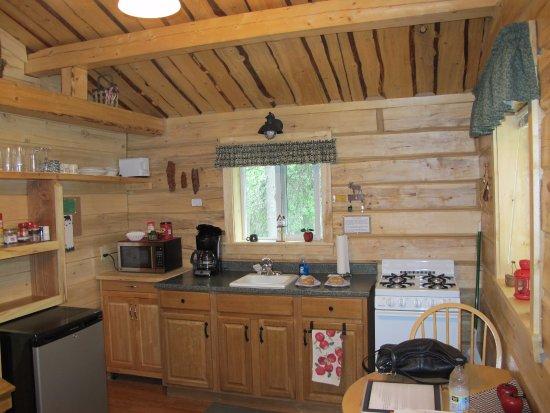 Glacier View, AK: fully functional kitchen