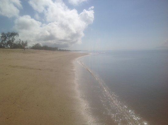 This is the beautiful beach at Forrest Beach, you can swim safely there and fish
