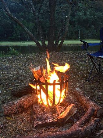 Wisemans Ferry, Australia: Campfire