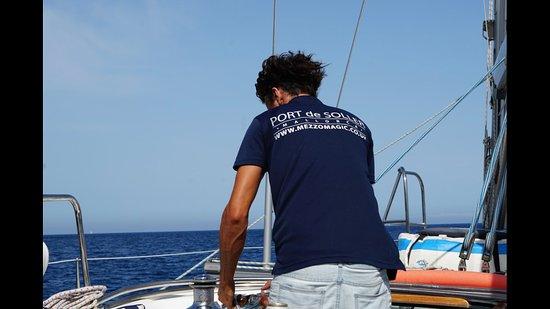 Port de Sóller, España: Our amazing skipper Maxime!