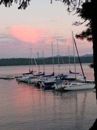 Crescent Lake, OR: Marina at Sunset