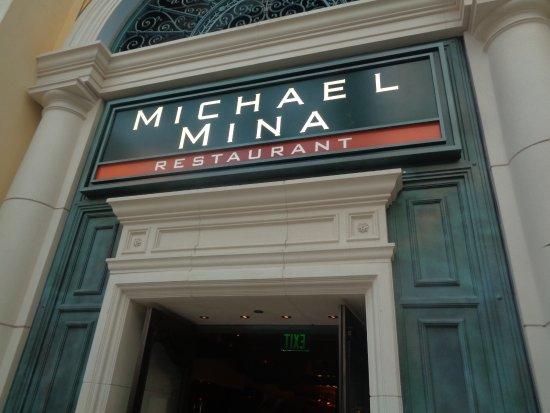 Michael Mina at Bellagio: front sign