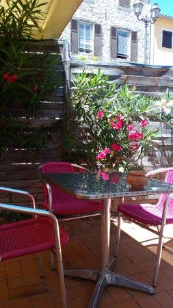 Aspremont, France: Vue de la terrasse