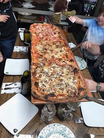 Meter long pizza